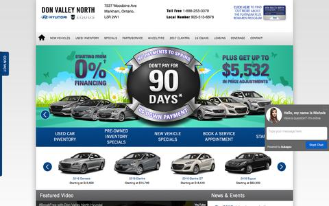Hyundai Dealership in Markham, Ontario, Canada | Don Valley North Hyundai