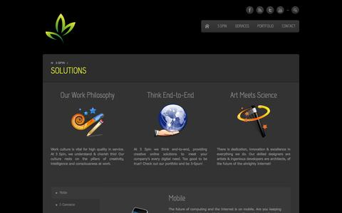 Screenshot of Services Page 3spin.co - 3 Spin Our Solutions | Creative Solutions Company - captured Sept. 30, 2014
