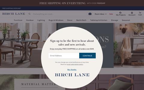 Screenshot of Home Page birchlane.com - Birch Lane - Traditional Furniture & Classic Designs - captured Sept. 23, 2018