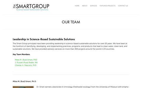 Screenshot of Team Page thesmartgroupinc.com - Our Team | - captured Oct. 9, 2014