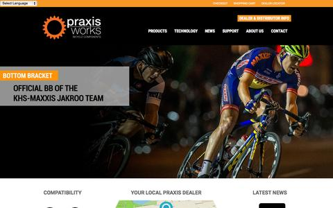 Screenshot of Home Page praxiscycles.com - Praxis Cycles - captured Jan. 23, 2015