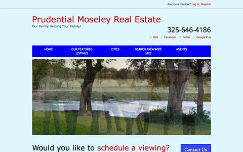 Screenshot of Home Page moseley-realestate.com - Prudential Moseley Real Estate - Our Family Helping Your Family - captured June 18, 2015