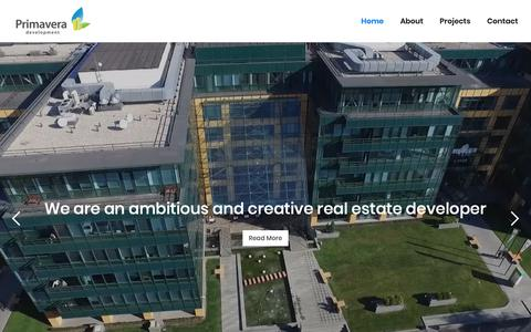 Screenshot of Home Page primavera-development.ro - Primavera Development: Your long-term partner - captured Feb. 1, 2019