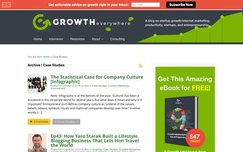 Screenshot of Case Studies Page growtheverywhere.com - Case Studies Archives - Growth Everywhere - captured Oct. 29, 2014