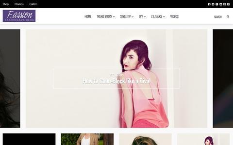 Screenshot of Blog fashionara.com - Fashion Blog for India - Top Trends in Women & Men Fashion - captured Sept. 18, 2014