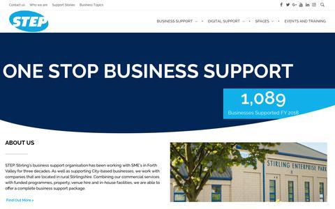 Screenshot of Home Page stepscotland.co.uk - Business Support Services Office Property Lease Rent | STEP Scotland - captured Nov. 12, 2018