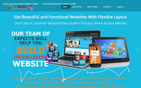 Screenshot of Home Page boldright.net - Cheap and Quality Website Designers In Nigeria - BoldRight - captured Aug. 2, 2018