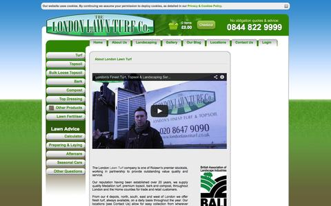 Screenshot of About Page londonlawnturf.co.uk - London Lawn Turf -  Laying Turf, Turf Suppliers London, Turf And Topsoil Products London - captured Sept. 30, 2014