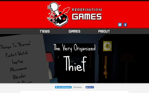 Screenshot of Home Page redefinitiongames.com - Redefinition Games   Indie Game Developers - captured Aug. 19, 2016