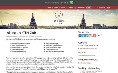 Screenshot of Signup Page xtenclub.com - Joining the xTEN Club – xTEN Club - captured Aug. 17, 2016