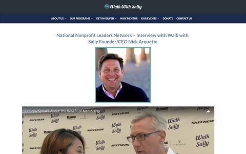 Screenshot of Press Page walkwithsally.org - Press   Walk With Sally - captured June 17, 2017