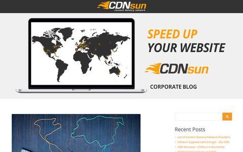 Screenshot of Blog cdnsun.com - CDNsun Blog - Content Delivery Network (CDN) News - captured Jan. 22, 2016