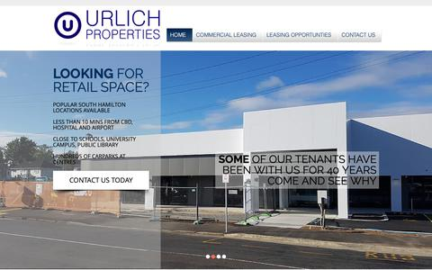 Screenshot of Home Page urlichproperties.co.nz - Urlich Properties   Commercial Property Hamilton - captured Oct. 20, 2018