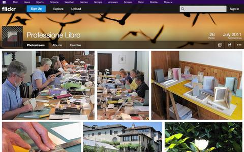 Screenshot of Flickr Page flickr.com - Flickr: Professione Libro's Photostream - captured Oct. 22, 2014