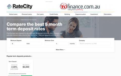 Find The Best 5 Month Term Deposit Rates | Dec 2017 | RateCity