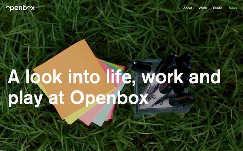 Screenshot of Press Page opnbx.com - News –Openbox - captured Sept. 23, 2018