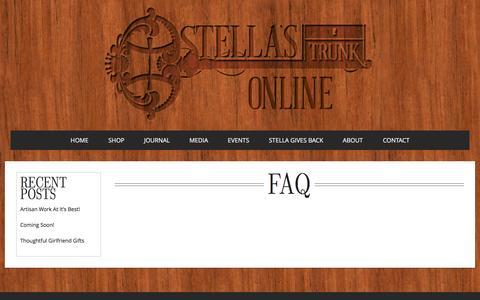 Screenshot of FAQ Page stellastrunk.com - FAQ | Stella's Trunk - captured Sept. 30, 2014