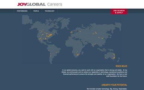 Screenshot of Jobs Page joyglobal.com - Joy Global Inc. Careers - captured Sept. 23, 2014