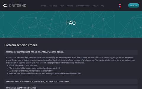Screenshot of FAQ Page critsend.com - FAQ � Critsend - captured Dec. 13, 2015