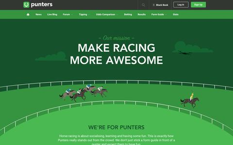 Screenshot of About Page punters.com.au - About the crew at Punters.com.au - captured Jan. 21, 2019