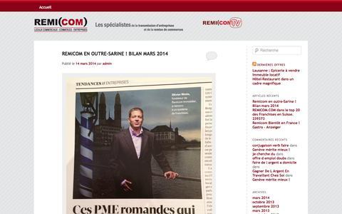 Screenshot of Blog remicom.com - Le blog du réseau Remicom | Commerces & entreprises - captured Oct. 7, 2014