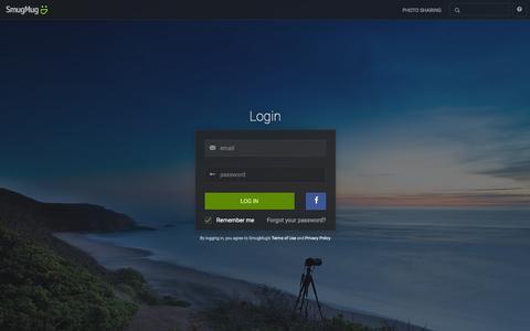 Screenshot of Login Page smugmug.com - Photo Sharing. Your Photos Look Better Here. - captured Jan. 29, 2016