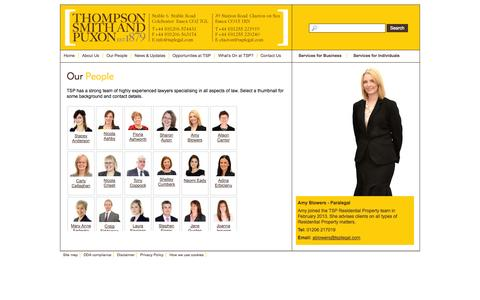 Screenshot of Team Page tsplegal.com - Our People, TSP - Lawyers in Colchester and Clacton - captured Nov. 5, 2014