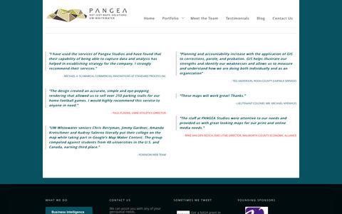 Screenshot of Testimonials Page uww.edu - Testimonials | PANGEA – UW-Whitewater - captured Sept. 25, 2014