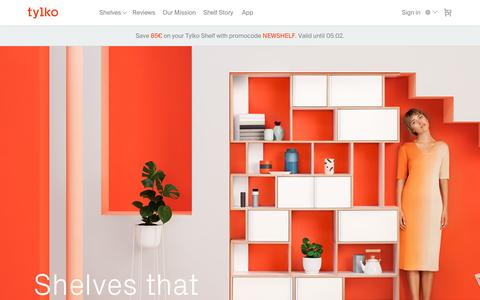 Screenshot of Home Page tylko.com - Tylko: The Best Shelf for a Modern Interior - captured Feb. 5, 2018