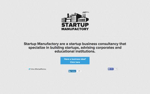 Screenshot of Home Page Team Page startupmanufactory.com - Startup Manufactory | Startup Business Consulting London - captured Aug. 4, 2015