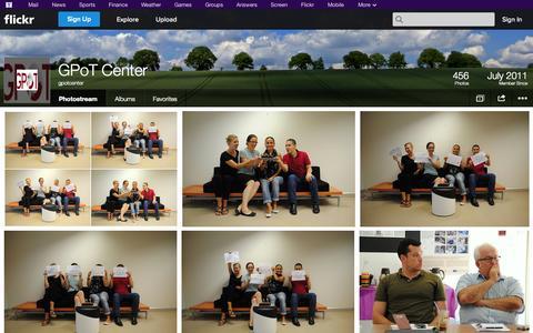Screenshot of Flickr Page flickr.com - Flickr: gpotcenter's Photostream - captured Oct. 22, 2014