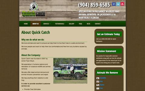 Screenshot of About Page quick-catch.com - About Quick Catch and Owner Ryan Boyd - captured Oct. 29, 2014