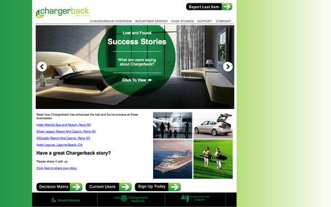 Screenshot of Case Studies Page chargerback.com - Lost and Found Success Stories - captured Sept. 29, 2014