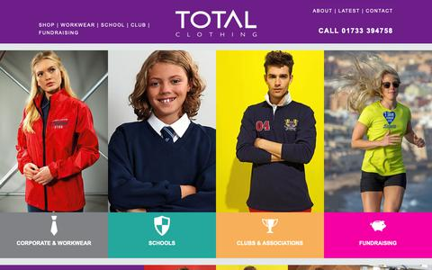 Screenshot of Home Page totalclothing.co.uk - Home - Total Clothing - captured Oct. 20, 2018