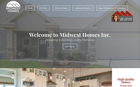 Screenshot of Home Page midwesthomesinc.com - Home | Midwest Homes Inc. - captured June 11, 2017