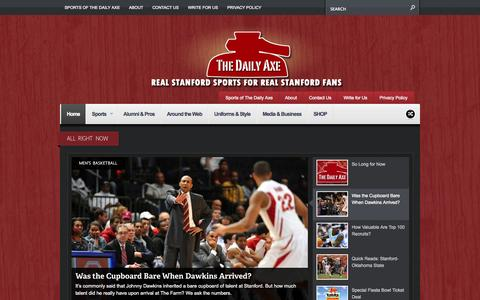 Screenshot of Home Page dailyaxe.com - The Daily Axe | Real Stanford Sports for Real Stanford Fans - captured Oct. 7, 2014