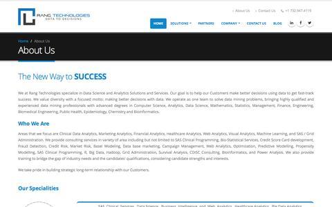 Screenshot of About Page rangtech.com - Rang  Technologies - captured Dec. 19, 2016