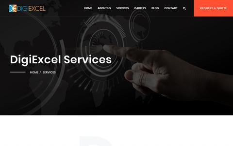 Screenshot of Services Page digiexcel.com - DigiExcel Offers wide range of Digital Marketing Services - captured Nov. 6, 2018