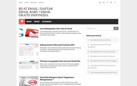 Screenshot of Home Page buat-email-baru.blogspot.com - Buat email | Daftar email baru | Email gratis Indonesia - captured Oct. 19, 2018