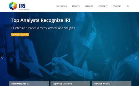 IRI - Delivering Growth for CPG, Retail, and Healthcare