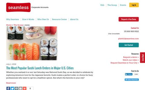 Screenshot of Press Page seamless.com - news Archives | Seamless Corporate Accounts - captured Nov. 6, 2016