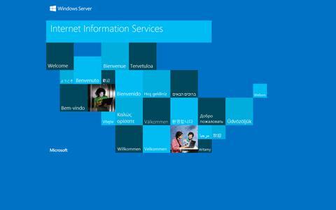 Screenshot of Home Page tmhughes.com - IIS Windows Server - captured Dec. 21, 2018