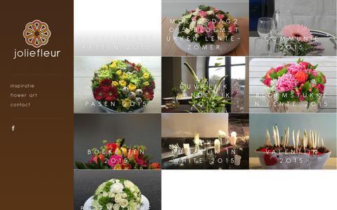Screenshot of Home Page joliefleur.be - Joliefleur   flower art - captured Sept. 13, 2015