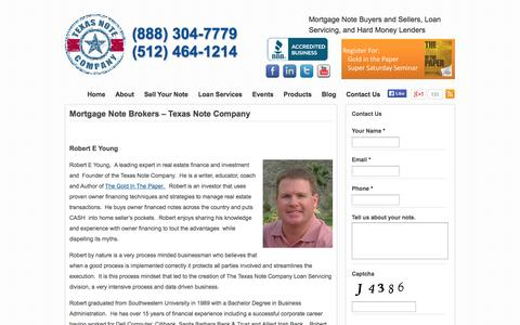 Screenshot of About Page texasnoteco.com - Real Estate Note Buyer and Mortgage Note Broker- Texas Note Company - captured Nov. 5, 2014