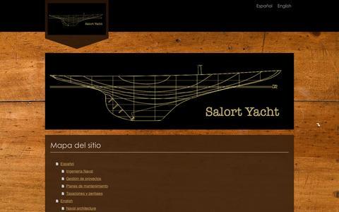 Screenshot of Site Map Page salortyacht.com - salortyachtdesign - captured Dec. 21, 2015