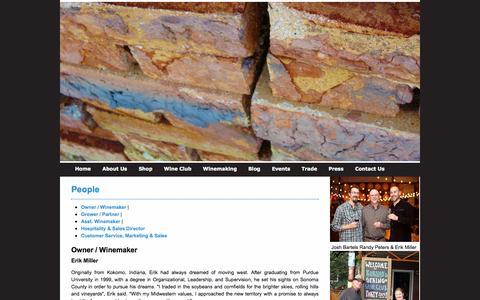Screenshot of Team Page kokomowinery.com - People | Kokomo Winery - captured Sept. 30, 2014