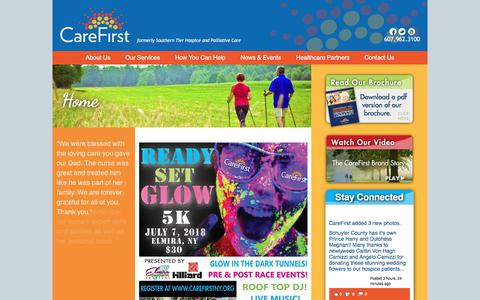 Screenshot of Home Page carefirstny.org - Care First :: Home - captured July 2, 2018
