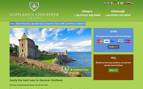Screenshot of Home Page tour-scotland.co.uk - Chauffuer Driven Scottish Tours - captured July 16, 2015