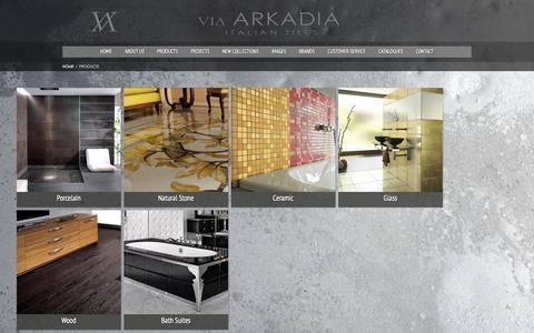 Screenshot of Products Page via-arkadia.co.uk - Products - Via-ArkadiaVia-Arkadia - captured Jan. 12, 2016