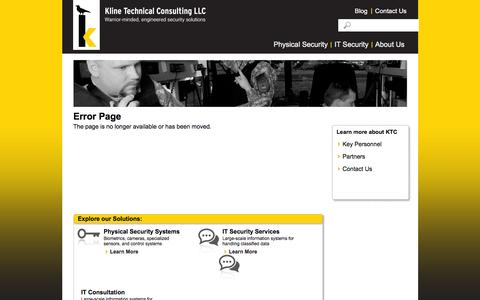 Screenshot of Privacy Page klinenm.com - Contact Us | Kline Technical Consulting - captured Feb. 12, 2016
